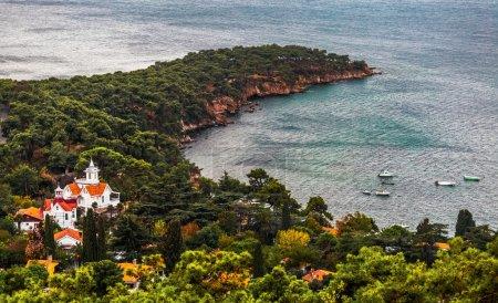 The big villa on the sea shore