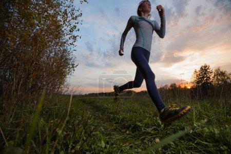 Slim lady running