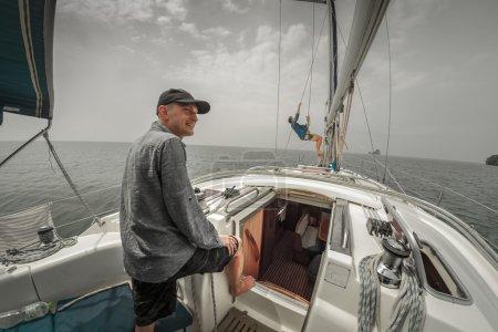 Sailor on the yacht
