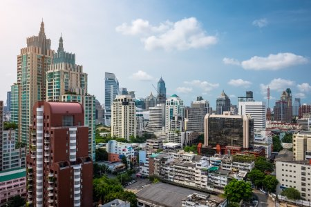 Buildings of the city of Bangkok