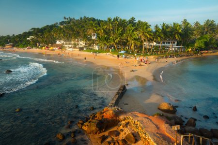Photo for Tropical beach in the town of Mirissa, Sri Lanka - Royalty Free Image