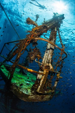 Shipwreck with fish