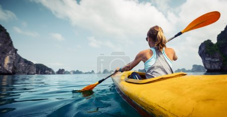 Lady on the kayak