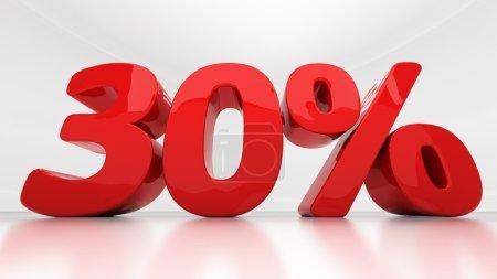 3D thirty percent