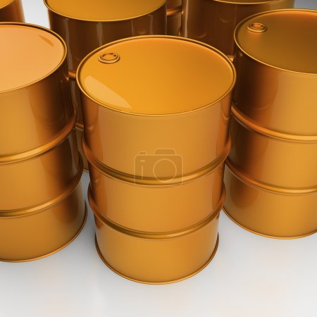 Industrial barrels. Oil drums