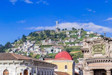 Sculpture of the Virgin in Panecillo Quito Ecuador South America