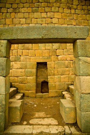 Door construction, Ingapirca important inca ruins in Ecuador