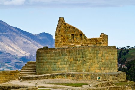 Temple of the sun, Ingapirca important inca ruins in Ecuador