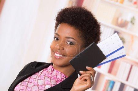 Black office woman tickets