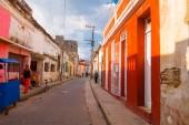 Camaguey na Kubě - 4 září 2015: Street view z centra města dědictví Unesco