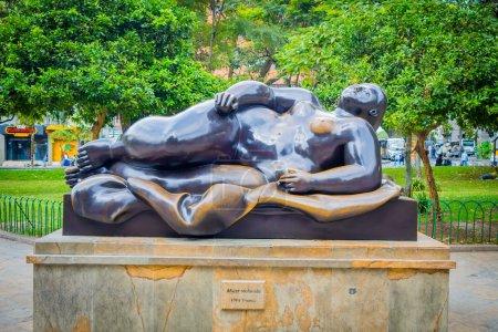 Beautiful Botero Plaza in Medellin city, Colombia