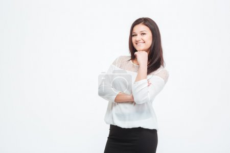 Young smiling businesswoman