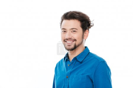 Smiling casual man looking at camera