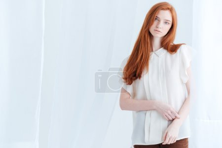 Lovely redhead woman