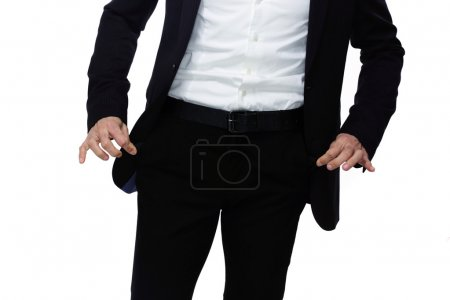 Handsome businessman isolated