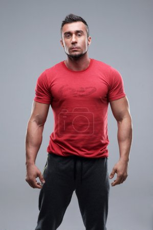 Handsome muscular man isolated