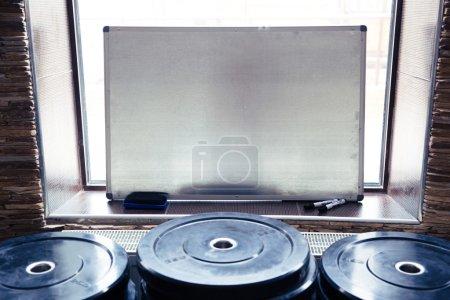 Closeup image of a clipboard