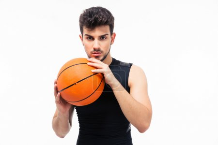 Portrait of a basketball player looking at camera