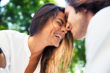 Cheerful romantic couple