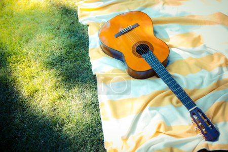 Guitar outdoors