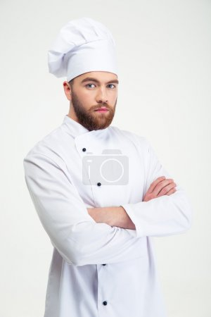 Portrait of a serious male chef cook