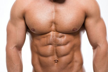 Photo for Closeup portrait of a muscular male chest - Royalty Free Image