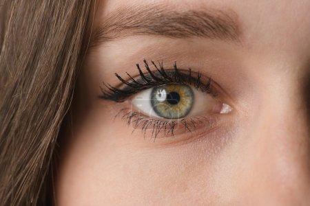 Photo pour Portrait rapproché d'un œil féminin - image libre de droit