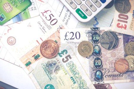 pund sterling british money background