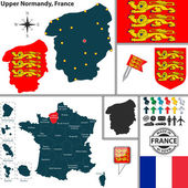 Map of Upper Normandy France
