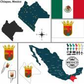 Map of Chiapas Mexico