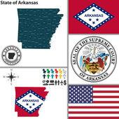 Map of state Arkansas USA