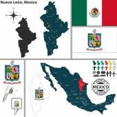 Map of Nuevo Leon Mexico