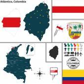 Map of Atlantico Colombia