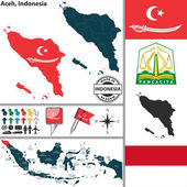 Map of Aceh Indonesia