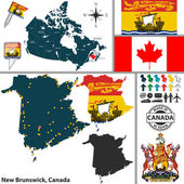 Map of New Brunswick Canada