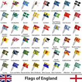 Flags of England UK