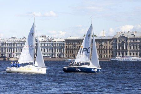 ST. PETERSBURG, RUSSIA - JUNE 5: A sailing regatta in St. Petersburg,RUSSIA - JUNE 5 2015.