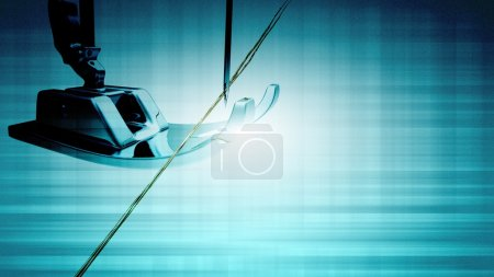 Photo for Sewing machine and thread rolling for adv or others purpose use - Royalty Free Image