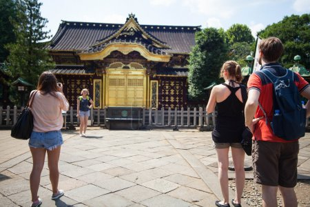 People visit Tosho-gu Shrine on AUG 15, 2015 in Nikko, Japan