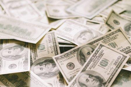 cash , selective focus