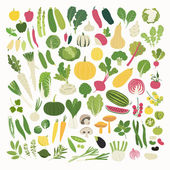 Great clip art collection of various vegetables and herbs