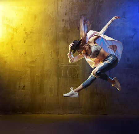 Photo for Portrait of a fit, young hip hop dancer - Royalty Free Image