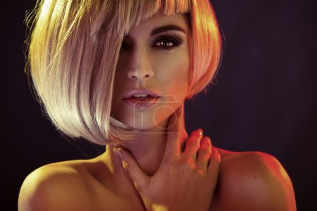 Photo for Portrait of the alluring lady with trendy coiffure - Royalty Free Image