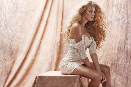 Portrait of a fashionable blond woman