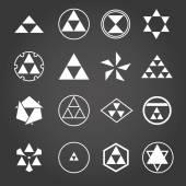 Japan religious symbols sacred geometry vector set