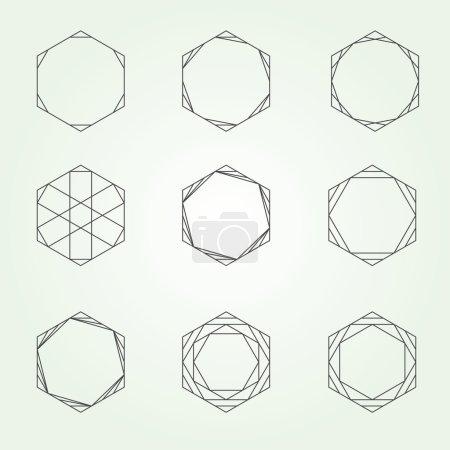 Hexagon set sacred geometry