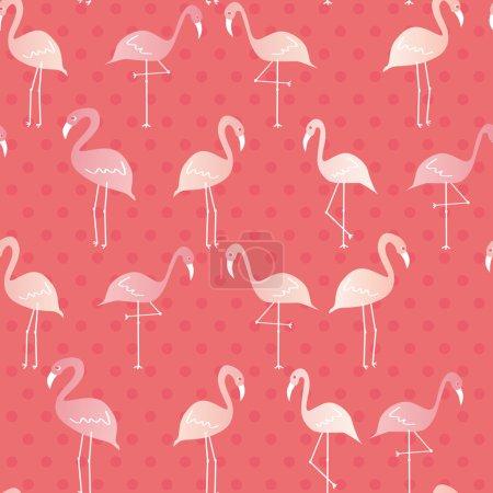flamingos seamless pattern