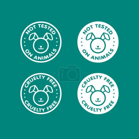 Illustration for Cruelty free - not tested on animals sign icon symbol - Royalty Free Image