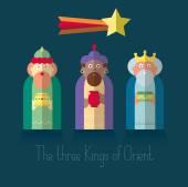 The three Kings of Orient wisemen