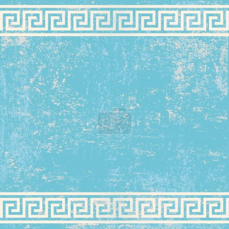 pared antigua con adorno griego meander.vector fondo